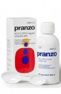 PRANZO 62,5 mg/ml + 1,25 mg/ml + 0,5 mg/ml SOLUCION ORAL 1 FRASCO 200 ml