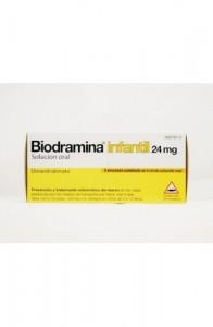 BIODRAMINA INFANTIL 24 mg 5 ENVASES UNIDOSIS SOLUCION ORAL 6 ml