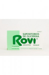 SUPOSITORIOS DE GLICERINA ROVI ADULTOS 3,36 g 12 SUPOSITORIOS