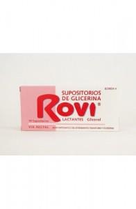 SUPOSITORIOS DE GLICERINA ROVI LACTANTES 0,672 g 10 SUPOSITORIOS