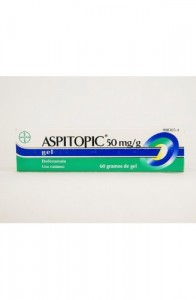 ASPITOPIC 50 MG/G GEL TOPICO 60 G